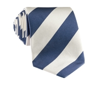 Silk Block Stripe Tie in Marine