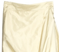 Marie Meunier Silk Wrap Skirt in Cream