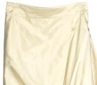 Marie Meunier Silk Wrap Skirt in Cream