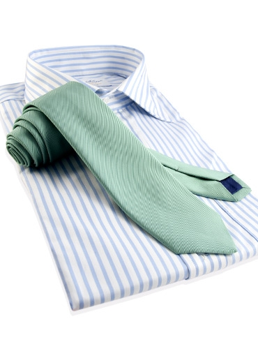 Mogador Silk Solid Signature Tie in Aqua