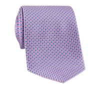 Silk Basketweave Tie in Rose and Cobalt