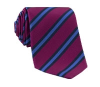 Mogador Woven Stripe Tie in Magenta and Cornflower