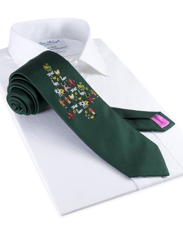 12 Days of Christmas Tie in Holly