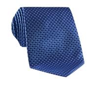 Basketweave Tie in Violet & Sky