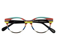 Multi-Colored Handmade Frame in Bright Aqua, Coral, and Lime