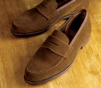 Harvard Unlined Loafer in Tobacco Suede