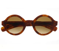 True Round Sunglasses in Honey Tortoise