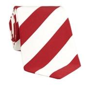 Mogador Silk Stripe Tie in Red