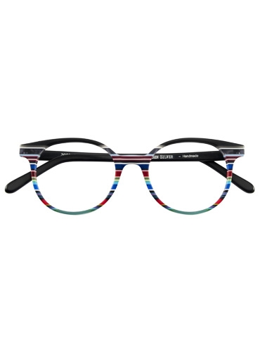 Multi-Colored Handmade Frame in Matte Black, White and Red