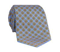 Silk Diamond Printed Tie in Sky