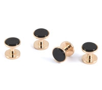 Rose Gold Black Onyx Stud Set