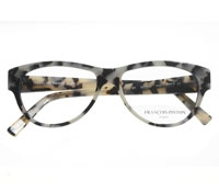 Brow Oval Frame in Brown and White Marble