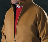 Wool and Cashmere G9 Jacket in Camel
