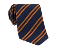 Mogador Woven Stripe Tie in Navy and Claret
