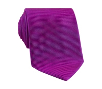 Silk Basketweave Tie in Magenta