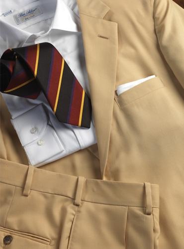 Suit Super 120S Wool Tan