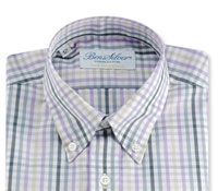 Boys Shirt Purple/Slate Check Buttondown