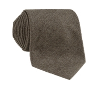 Wool Solid Tie in Mocha