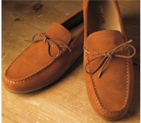 The Geox Moccasin Style Driver in Rust Suede