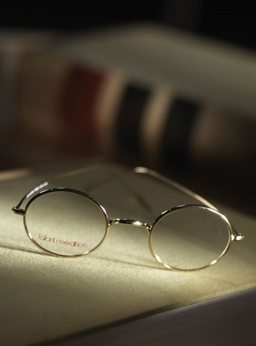 Lafont Round Wire Frame in Yellow Gold