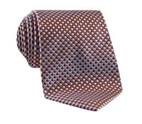 Basketweave Tie in Red, Sun and Sky