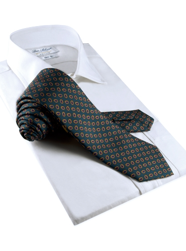 Printed Neat Tie in Teal