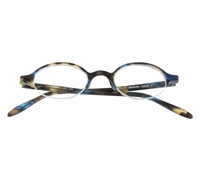 Semi-Rimless Oval Frame in Blue Marble