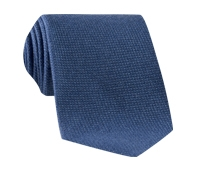 Wool, Silk and Cashmere Blend Solid Tie in Denim