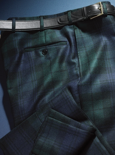 Black Watch Wool Trousers