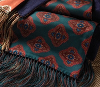 Silk and Cashmere Reversible Scarf in Teal