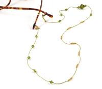 Green and Yellow Crystal Eyewear Chain
