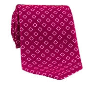 Silk Diamond Motif Tie in Magenta