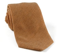 Wool/Silk Solid Tie Oak