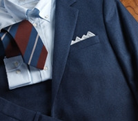 Suit Wool Flannel Mid-Blue