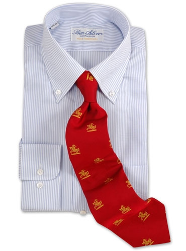 J144- Fife and Forfar Crested Tie