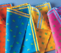 Pure Cotton Pocket Squares with Palmetto Tree Motif