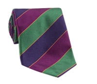 Purple, Green, Fuchsia, and Gold Stripe Tie