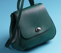 Ladies Leather Handbag in Spruce