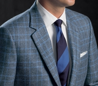 Blue and Charcoal Glen Plaid Cashmere Sport Coat