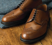 The Alden Wingtip Blucher in Tan