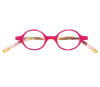 Kids Round Frames in Pink with Flowers