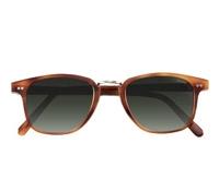 Semi-Square Sunglasses in Amber with Wire Bridge