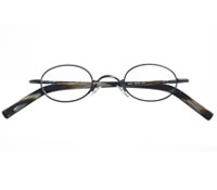 Small Wire Oval Frame in Black