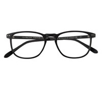 Slim Semi-Square Frame in Matte Black