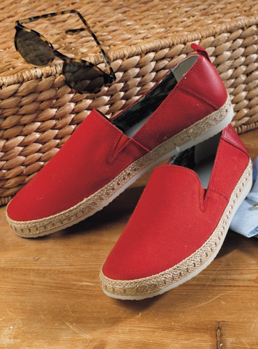 Geox Canvas Espadrille in Red