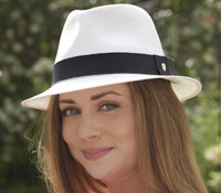 Panama Hat in Chalk and Black