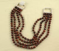 4 Strands Red Tiger Eye Necklace