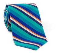 Multi-Colored Stripe Silk & Cotton Tie