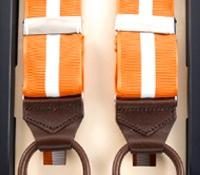 Single Stripe Braces in Copper