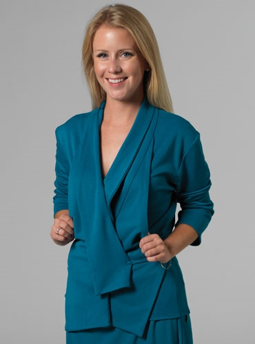 Marie Meunier Eventail Jacket in Turquoise